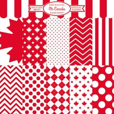 canada day canadian digital papers Oh Canada by DigitalBakeShop Paper Background, Background Patterns, Canada 150, Canada Images, Color Crafts, Scrapbook Paper, Scrapbooking, Printable Paper, Craft Items