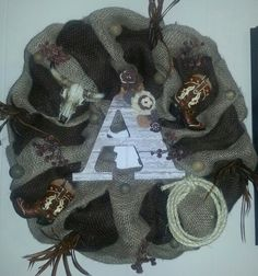 Country Burlap Wreath! Visit my page www.facebook.com/meaganswreaths