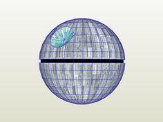 Death Star, pepakura / papercraft. by PhantomWordar on DeviantArt