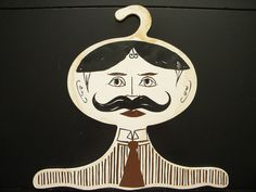 Fabulous Vintage 60's Victorian Man Clothing Hanger