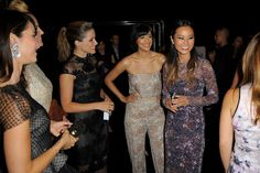 Hannah Simone Photos Photos - Sophia Bush, Hannah Simone and Jamie Chung attend the Monique Lhuillier fashion show with Yappn Corp brings Fotoyapp to Mercedes-Benz Fashion Week at Lincoln Center on September 5, 2014 in New York City. - Yappn Corp Brings Fotoyapp To Mercedes-Benz Fashion Week - September 5, 2014