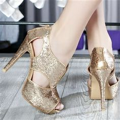 Glam Golden Heels - HeelsFans.com