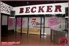 decoración discoteca 7 rosas
