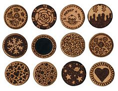 Selection of Wood Tattoos Miniature Mirror Designs