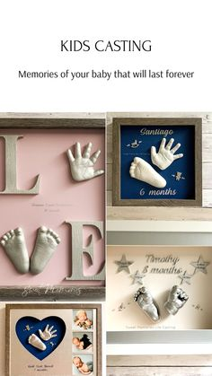 Cute Pregnancy Pictures, Baby Pictures, Baby Photos, Kids Cast, Baby Footprint Art, Baby Cast, Baby Life Hacks, Cool Paper Crafts, Memory Crafts