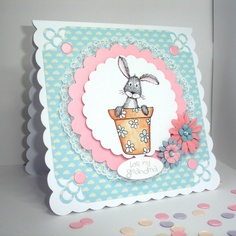 Handmade OOAK 'For My Grandma' card, for Mother's Day or Birthday by pollypurplehorse