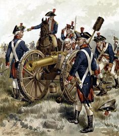 Continental artillery at Monmouth