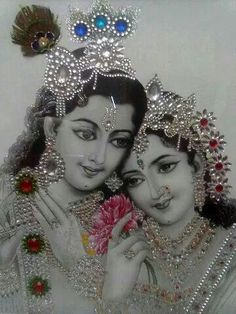 Lord Krishna and Radhe. Lord Krishna Images, Radha Krishna Pictures, Radha Krishna Photo, Krishna Photos, Krishna Art, Krishna Drawing, Krishna Painting, Jai Shree Krishna, Radhe Krishna