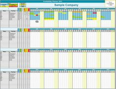 Project planner work task time manager gantt by for Availability template excel