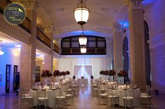 Our venue - with purple accents!