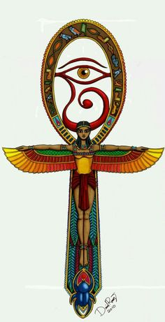 A detailed look into the Egyptian ankh meaning life and immortality. The most common one among the ancient Egyptian symbols, the ankh symbol examined. Egyptian Mythology, Egyptian Symbols, Ancient Egyptian Art, Ancient Symbols, Mayan Symbols, Viking Symbols, Viking Runes, Egyptian Goddess Tattoo, Egyptian Cross