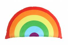 This bright rainbow cushion adds so much colour to any room - play room, kids room, nursery. The cushion has a...
