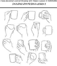 drawing Illustration art reference how to draw drawing hands character design reference anatomy for artists art pose reference Drawing Lessons, Drawing Skills, Drawing Techniques, Drawing Tips, Drawing Sketches, Drawing Hands, Hand Drawings, Holding Hands Drawing, Sketching