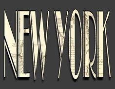 New York in Art Deco Typography