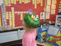 My daughter's hair for crazy hair day at school!