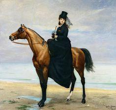 Equestrian Portrait of Mademoiselle Croizette Painting  - Equestrian Portrait of Mademoiselle Croizette Fine Art Print