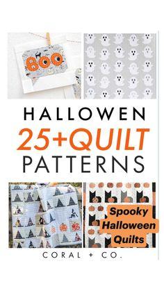 Halloween Quilt Patterns, Halloween Quilts, Halloween Fabric, Halloween Projects, Diy Halloween Decorations, Halloween Sewing, Quilting Projects, Sewing Projects, Quilting Ideas