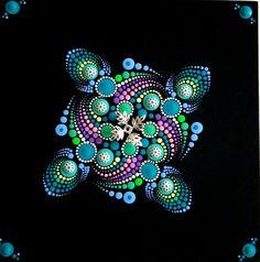 Mandala Mandalas y mas by Sandra Zevallos Mandala Drawing, Mandala Painting, Dot Art Painting, Stone Painting, Mandela Art, Mandala Canvas, Geometric Mandala, Mandala Rocks, Rock Design
