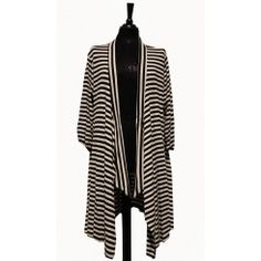 Florentyna dawn Black and white striped jacket