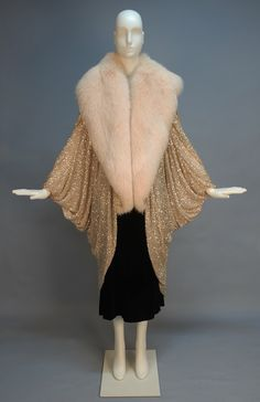 1980s Erte' style evening jacket