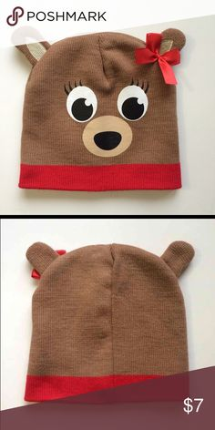 Bear Girls Winter Hat New without tags! Bear design winter hat for girls, One Size, Really Cute !! Accessories Hats