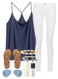 """""""Untitled #124"""" by lacrosse-19 on Polyvore featuring H&M, Frame Denim, Billabong, Tory Burch, Ray-Ban, Kate Spade, NARS Cosmetics, women's clothing, women and female"""