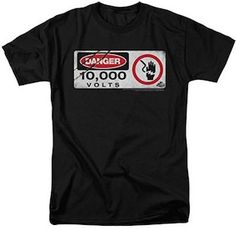 Jurassic Park 10000 Volts Electric Fence T-Shirt.