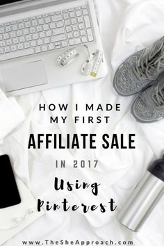 Who knew you could use Pinterest to make sales and earn commissions?  Read my blog post about how I made my first affiliate sale in 2017 by using pinterest.  More tips and tricks about affiliate marketing for bloggers are included and everything else you need to know if you are a beginner in affiliate sales and looking to make some money online!  Give this article a read!