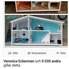 """Avslutar dagen med att kolla runt här på instagram och på fb.. på sidan """"Återbruka mera"""" gillade verkligen många min makeover på dockskåpet! Och ni som följer mig vet.."""" I love diy and makeover"""" och Er! kram på er, dröm söta drömmar! #mitthem #mitthjem #interior #interiör #inspo #home #myhome #makeover #madebyme #retro #barn #barnsligt #kids #kidsdeco #kidsinterior #rumforkidsen #barnrumsinspo #dockskåp #superhjältehus #dockhus #renovera #dollhouse #återbruka #upcycling #love #likes…"""