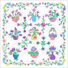 Designing Applique Quilts in EQ, Part 1 Electric Quilt, Applique Quilts, Spring Flowers, Quilt Blocks, Your Design, Spring Colors