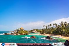 Tayrona National Park in Colombia  |  The popular Tayrona Park lies at the Caribbean coast near Santa Marta in #Colombia.   |  🔸 Source: http://wikitravel.org/en/Tayrona_National_Park  |  🔹 Book Now: http://www.callcheapflights.uk/?utm_source=pinterest&utm_campaign=tayrona-national-park-in-colombia&utm_medium=social&utm_term=colombia  |  #tourism #flights #travel #booknow #bookonline #cheapflights #callcheapflights #tayronanationalpark #southamerica #travelagentsinuk #flightstosouthamerica