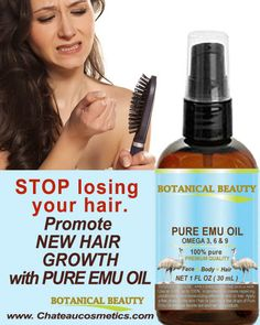 Emu oil is a good emollient and water-binding agent with anti-inflammatory properties. Emu oil is a proven anti-inflammatory, with effects comparable to that of ibuprofen;a bacteriostatic, meaning that it does not promote the growth of bacteria. New Hair Growth, Healthy Hair Growth, Emu Oil Cream, Natural Skin Moisturizer, Cracked Skin, Massage Oil, Body, Oil Benefits, Pure Products