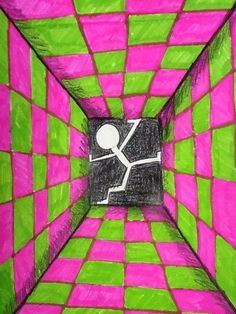 Check out student artwork posted to Artsonia from the grade Surreal Rooms project gallery at Scammon Elementary School. Student Crafts, Classe D'art, Art Texture, 7th Grade Art, Perspective Art, School Art Projects, Illusion Art, Middle School Art, Art Lesson Plans