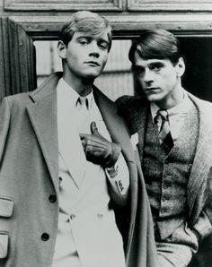 Anthony Andrews & Jeremy Irons, 1981.