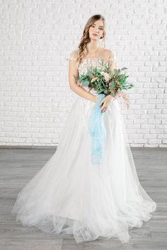 Rochie Wendy - Oana Nutu Blue Bridal, Bridal Style, Modern Fashion, Fashion Design, Fashion Trends, Embroidered Silk, Designer Collection, Ruffles, Blues