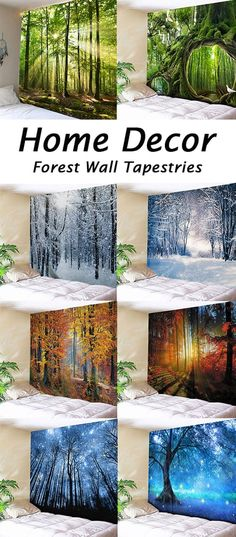2020 Forest Tapestry Best Online For Sale Deco Luminaire, Wall Murals, Wall Art, Bedroom Decor, Wall Decor, 3d Home, Wallpaper, Wall Tapestry, Miniature Fairy Gardens