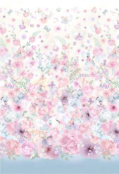 Heart Flutter, Michael Miller Fabric, Cotton Quilting Fabric, Australian Artists, Fabric Panels, Anime Art Girl, Pink, Floral Prints, Fairy
