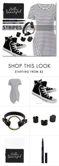 """Hello Beautiful!"" by simona-altobelli ❤ liked on Polyvore featuring Converse and Boohoo"