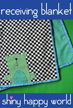 Free Sewing Pattern – Receiving Blanket for Baby | Shiny Happy World
