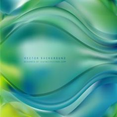 Abstract Blue Green Wave Design Background #freevectors