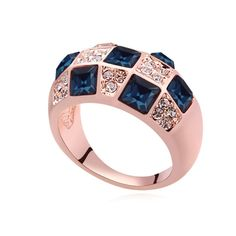 [$4.72] Austrian Crystal Ring - Twilight (Colour: Blue Ink)