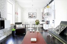 600 square feet apartment by architect Koray Duman located in East Village of New York City.