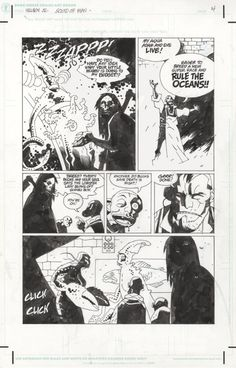 Hellboy Jr - Mike Mignola Comic Art
