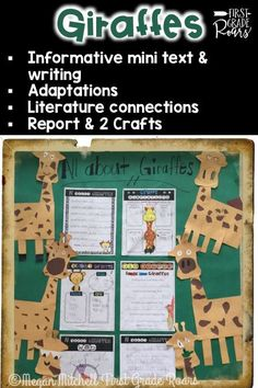 This product offers a fun way to introduce giraffes to your students.  Included you will receive:  Fact vs. Opinion Mini Booklet, copy two per page Adaptations  Writing Activities (Opinion, Informative, Fill in the Blank, Can, Have, & Are Chart) Mini Report Template -6 pages 2 giraffe craft ideas Fiction Text Connection: Giraffe's Can't Dance