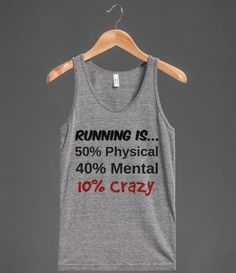 I realized how crazy runners are in some people's eyes. We run miles for fun!!