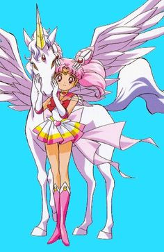 Sailor Super Chibi Moon and of course Pegasus!