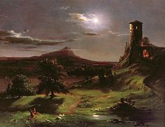 Thomas Cole - Landscape - Moonlight