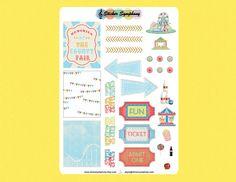 Fair Day Planner Stickers Kit  Erin Condren Life Planner or MAMBI Happy Planner