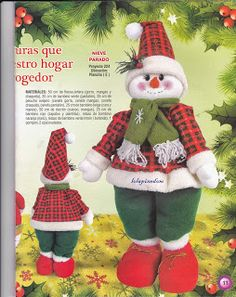 revista muñecos navideños gratis - Blog de Santa clauss Christmas Sweaters, Christmas Ornaments, Ronald Mcdonald, Holiday Decor, Blog, Character, Queen, Tela, Fun Crafts