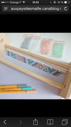 off loom beading stitches Loom Bracelet Patterns, Bead Loom Bracelets, Bead Loom Patterns, Jewelry Patterns, Beading Patterns, Seed Bead Jewelry, Bead Jewellery, Miyuki Beads, Bead Loom Designs